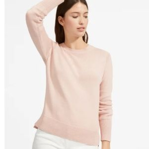 Everlane Soft Cotton Crew Sweater in Blush - EUC